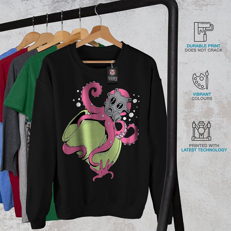wellcoda Octopus Cartoon Fantasy Mens Sweatshirt Toxic Casual Jumper
