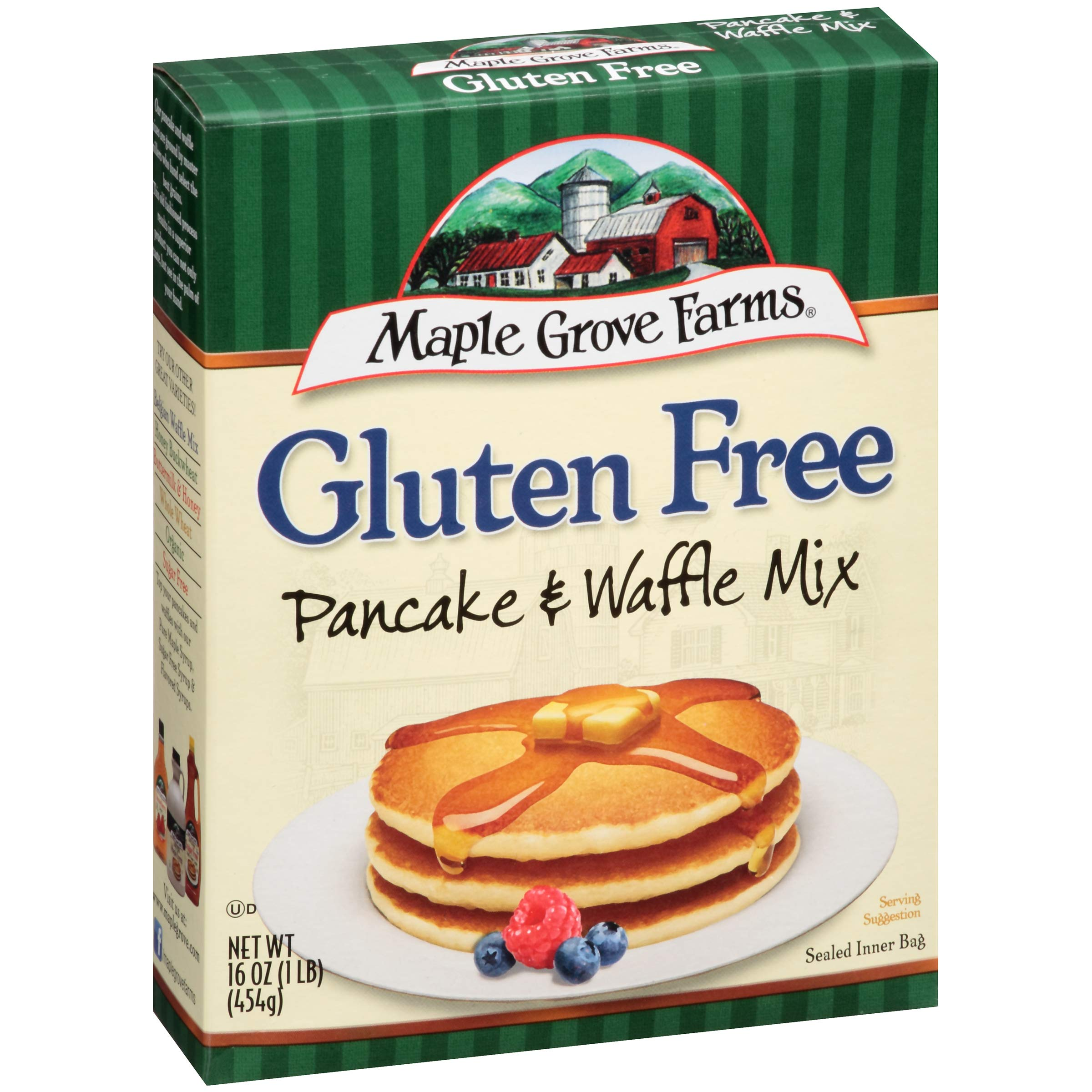 Maple Grove Farms, Pancake & Waffle Mix, Gluten Free, 16 Ounce Boxes (Pack of 4) by Maple Grove Farms