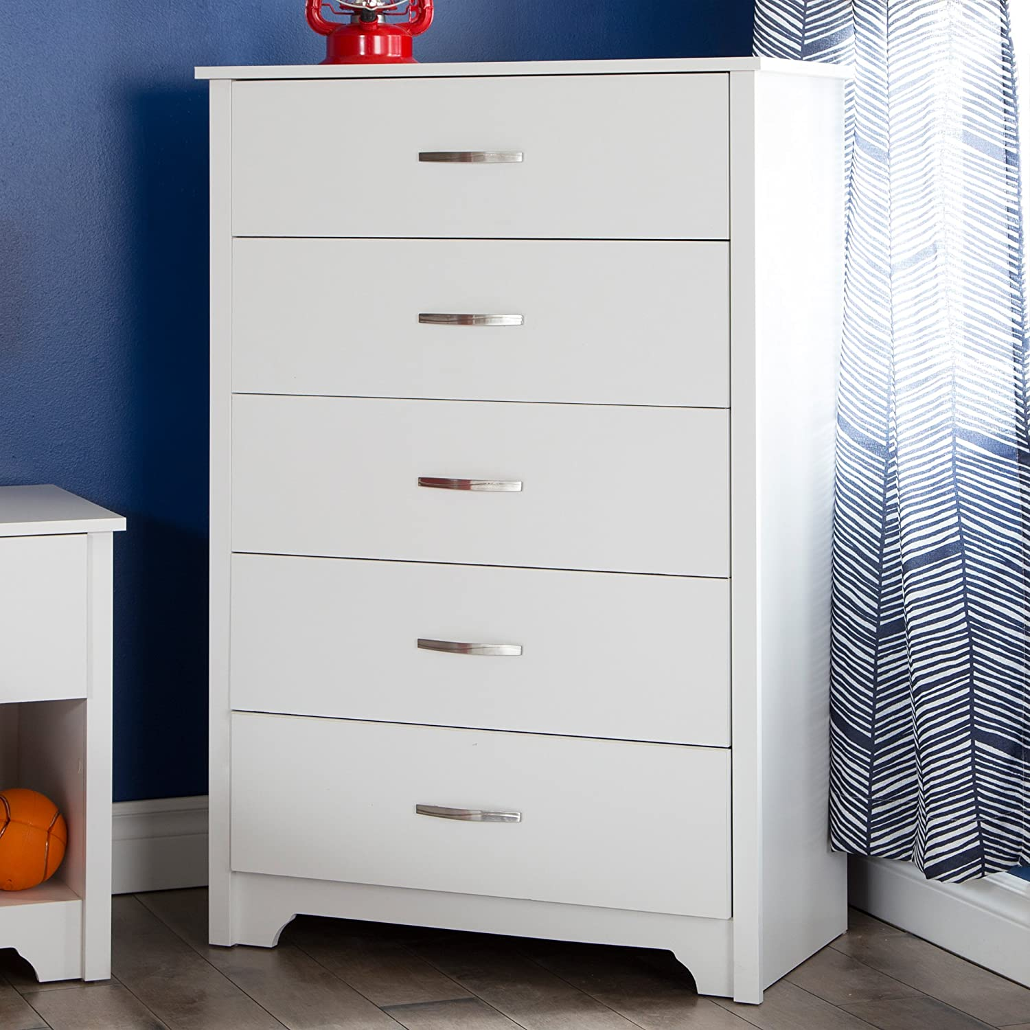 South Shore Fusion 5 Drawer Chest Pure White Amazon Ca Home Kitchen