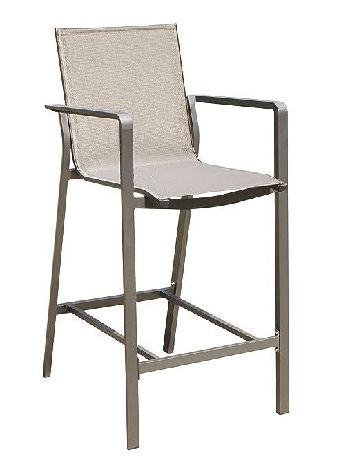Terrific Amazon Com Whiteline Modern Outdoor Living Taupe Vargas Andrewgaddart Wooden Chair Designs For Living Room Andrewgaddartcom