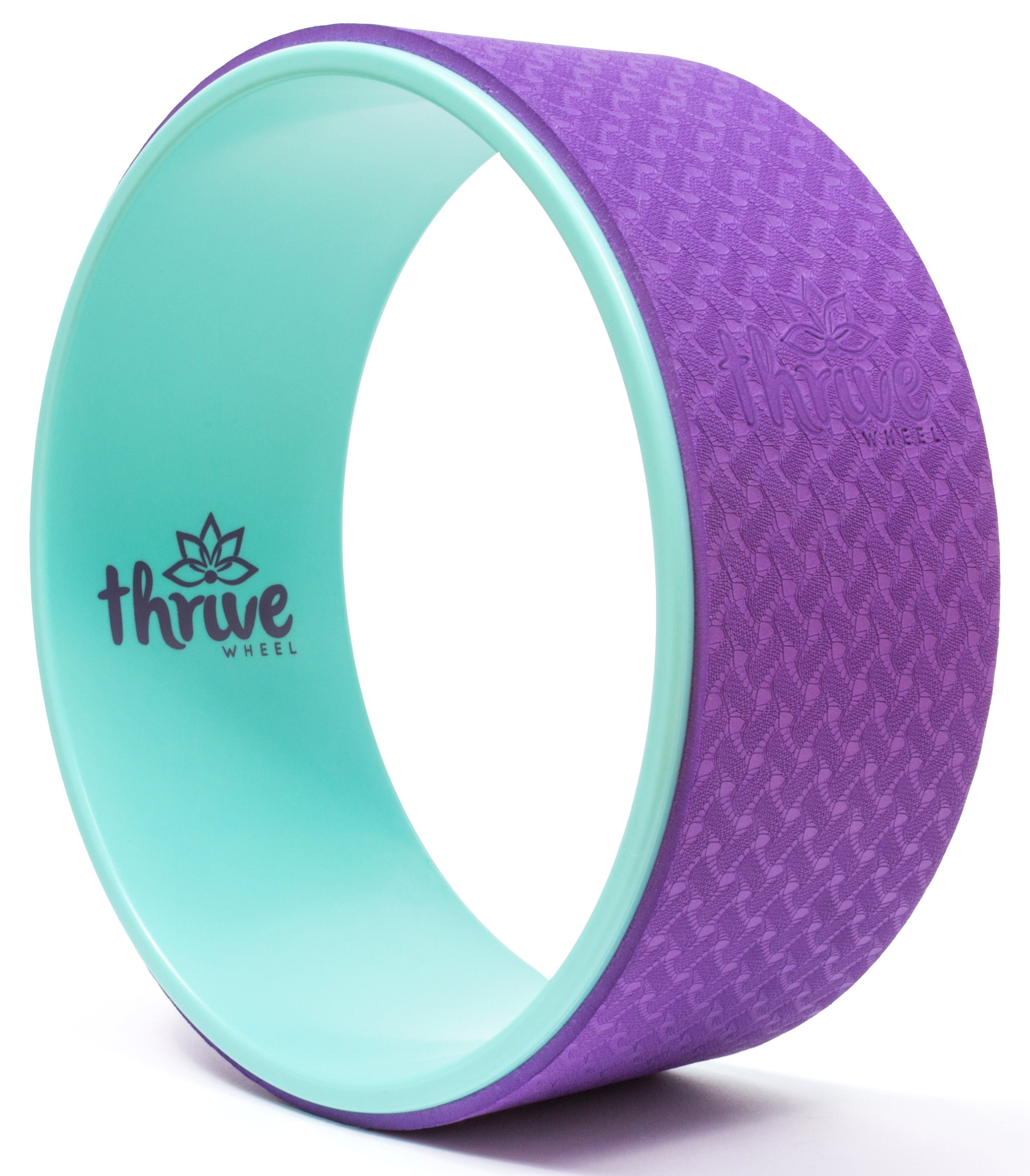 Yoga Wheel w/FREE Online Video Tutorials - Durable & Comfortable Premium Dharma Yoga Wheel for Stretching, Back/Spine Pain, Improving Yoga Poses & Backbends, Flexibility & Core Strength!