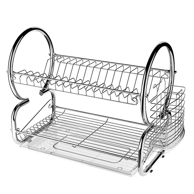 Amazon.com: Acazon 2 Tier Stainless Steel Dish Rack Home ...