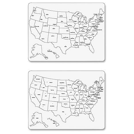 Amazon.com : Chenille Kraft Large USA Map Whiteboard : Office Products