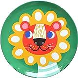 Helen Dardik Melamine Side Plate Lion on Green