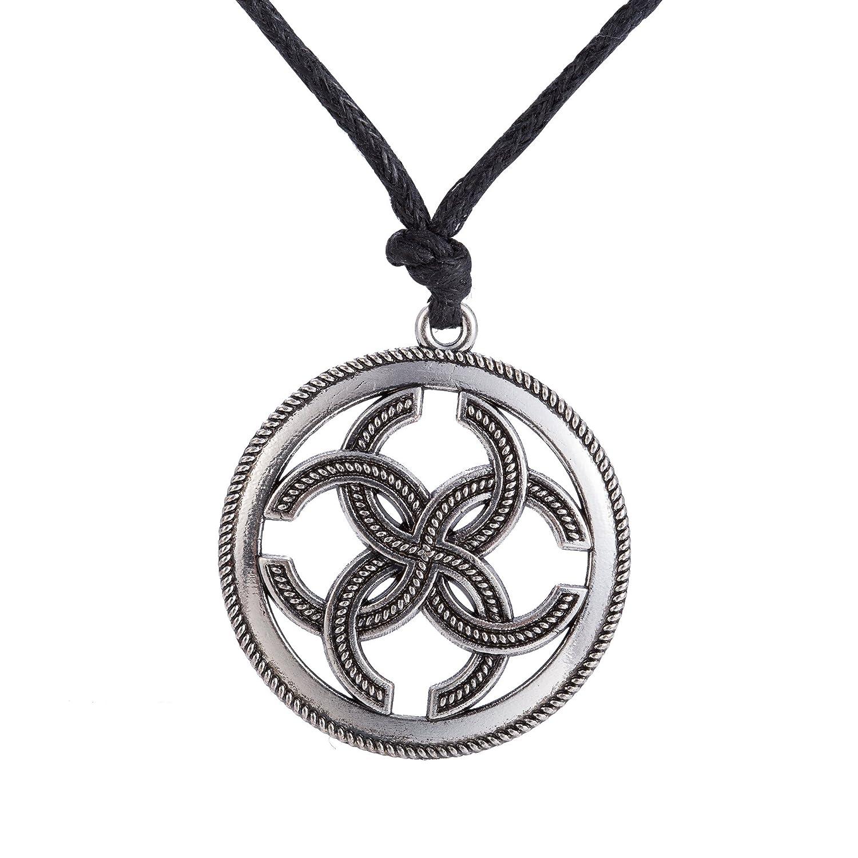 Skyrim Amuleto eslavo sello mágico riqueza prosperidad collar con colgante joyas para hombres y mujeres YI WU KE JI