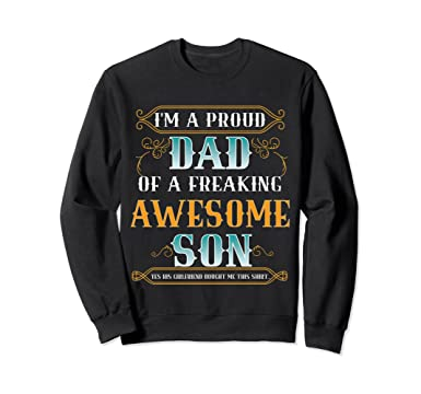 Amazon.com: Christmas Gift boyfriends Dad Shirt Proud Daddy ...