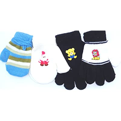 Gallity Toddler Baby Cute Cartoon Thicken Plush Winter Warm Gloves Girls Boys for 1-5Years Old