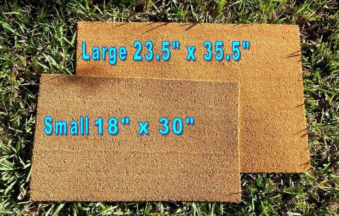 Size Small Doormat Welcome Mat Its Just a Simple Key Custom Handpainted Welcome Doormat by Killer Doormats