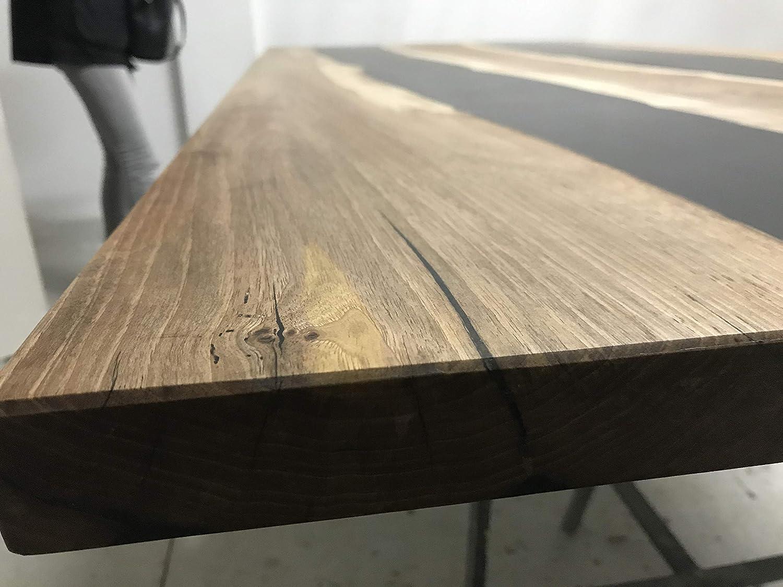 Esstisch aus Holz und Epoxidharz, ungiftig, mit modernem Design