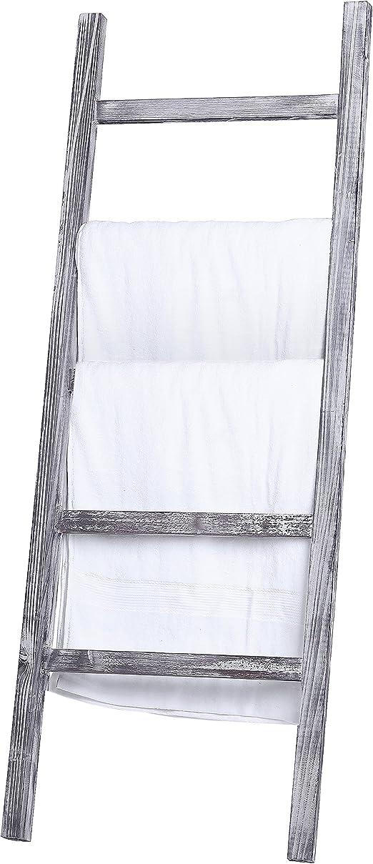 """Wooden Quilt Rack Towel Throw Blanket Holder Storage Wall Window Shelf WHITE 37/"""""""