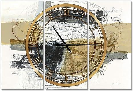Designart Clm25710 C23 Golden Water Agate Oversized Fashion Wall Clock 23x23 Blue Amazon Ca Home Kitchen