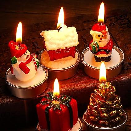 Amazon Jetec 15 Pieces Christmas Candles Santa Snowman Pine