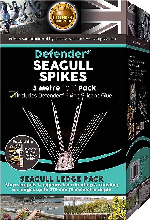 Defender Chimney Pot Strap Bird Spike Bird Guard 40 Page Seagull /& Pigeon Deterrent Guide