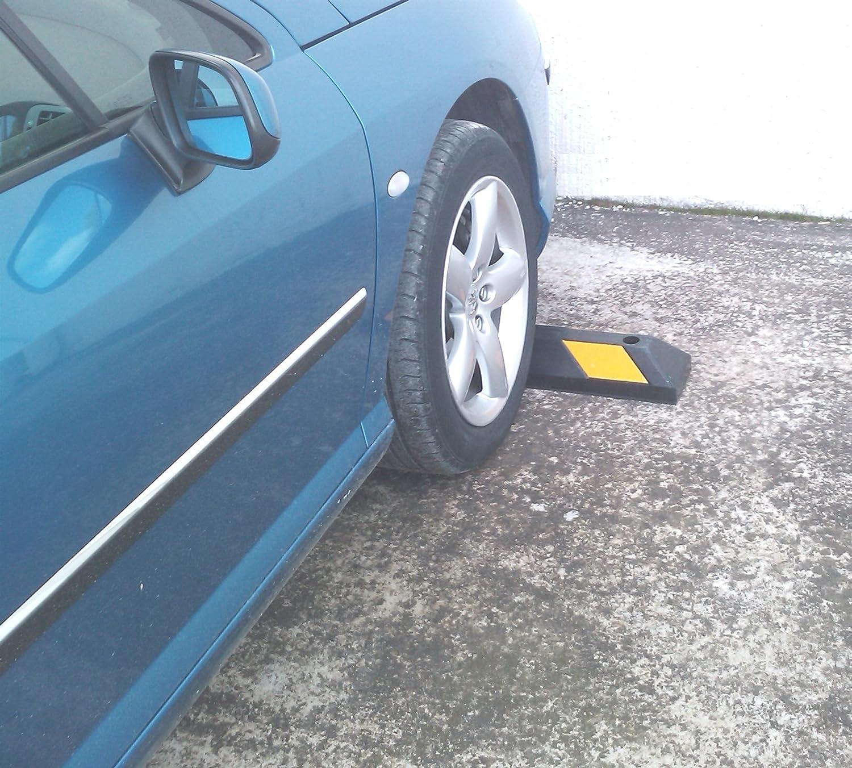 Sns Safety Ltd Gummi Radstopp Parkplatzbegrenzung Für Parkplätze Und Garagen Farbe Schwarz Gelb Abmessungen 55x15x10 Cm 1er Pack Gewerbe Industrie Wissenschaft