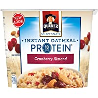 Deals on 12-Pack Quaker Instant Oatmeal Express Cups Cranberry Almond