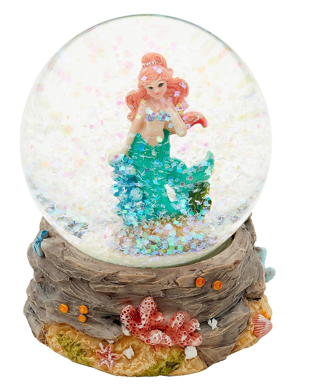 Cepewa Resin Green Mermaid Water Snow Globe 65mm