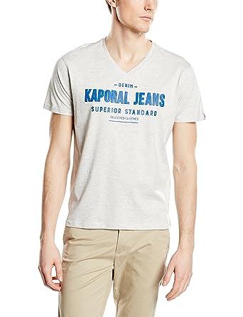 Amazon Vente En Ligne De Nombreux Types De Vente En Ligne Tazz - T-Shirt - Imprimé - Col V - Manches Courtes - Homme - Gris (Greym) - Small (Taille Fabricant: S)Kaporal kdnFp