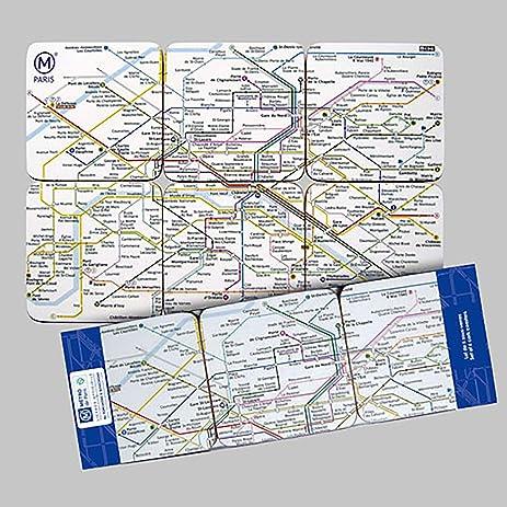Amazoncom FRENCH VINTAGE COASTER PARIS METRO MAP FRANCE RATP - French metro map