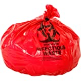 Oakridge OSHA Approved Biohazard Safety Bags (25 Gallon) (50 Bags) - Professional Grade