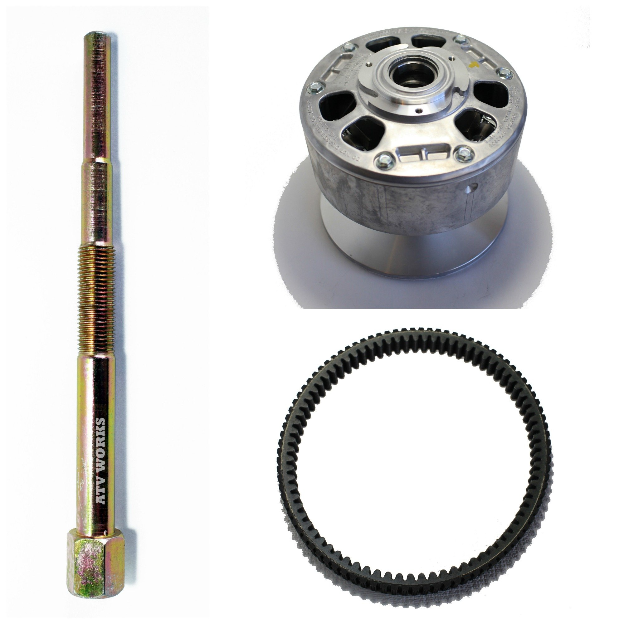 KAWASAKI Mule 2510 Diesel 2000-2002 / 3010 4x4 Diesel 2003 Primary Drive Converter NEW OEM 49093-1068 w/ a Drive Belt & Puller Tool by ATVWorks