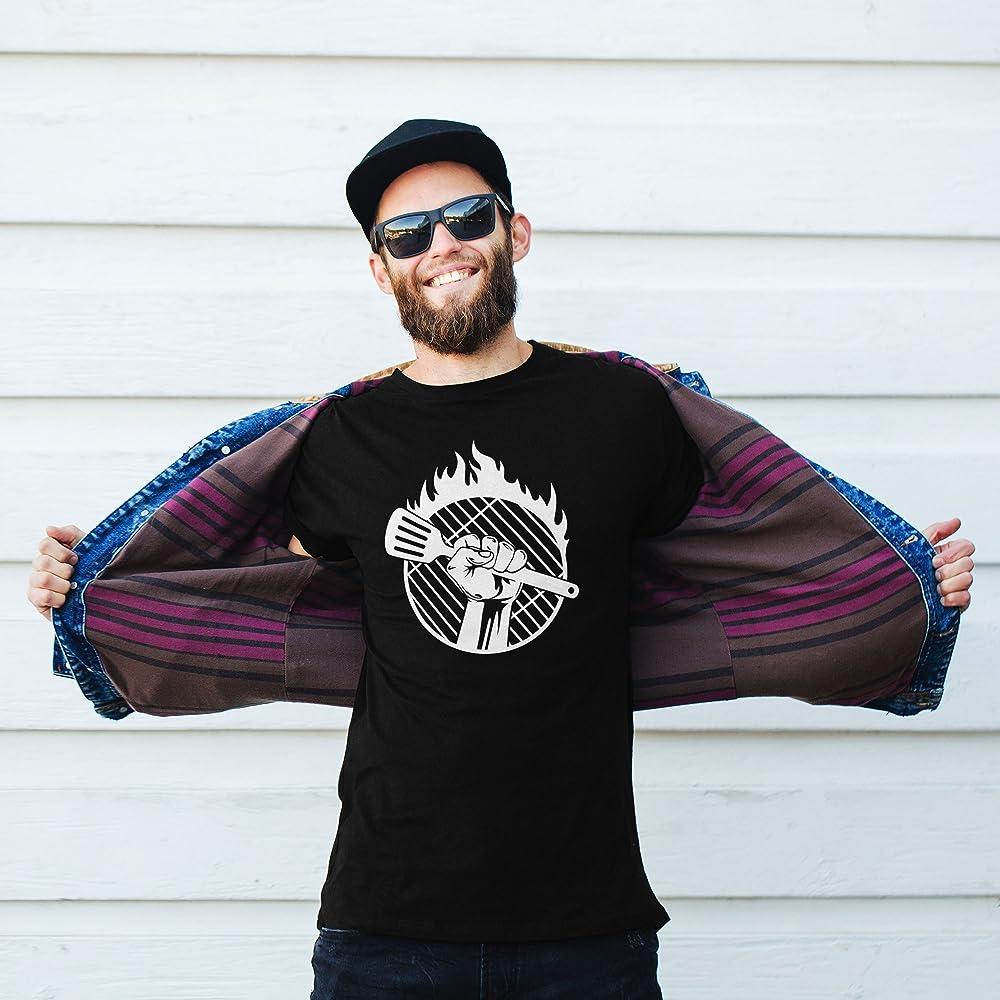 vanVerden Camiseta Barbacoa Flames Barbacoa Fuego Camiseta Barbacoa Parrilla Rejilla, Tamaño:L, Color:Negro: Amazon.es: Ropa y accesorios