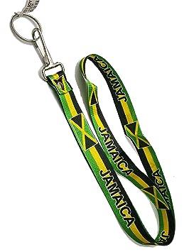 Jamaica bandera de Jamaica cuello correa llavero Lanyard ...