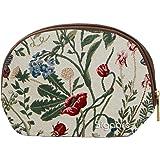Cosmetic Bag / Canvas Makeup Bag / Morning Garden