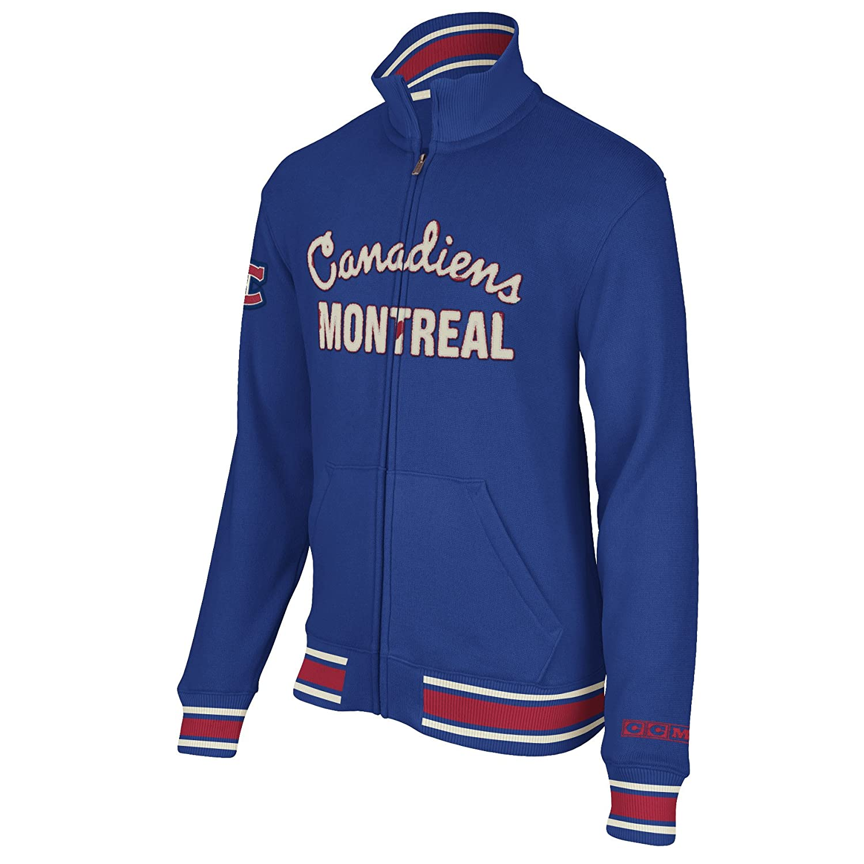 Amazon com : NHL Montreal Canadiens CCM Fleece Track Jacket