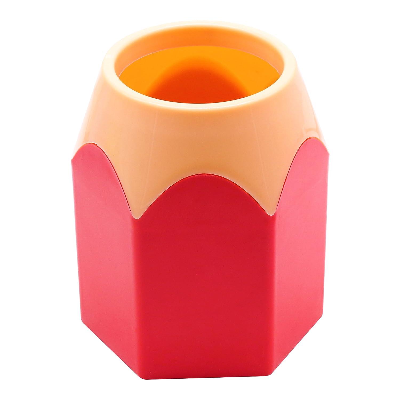 materiale scolastico matita sveglio penna a forma di porta accessori per desktop tazza decorazione per i regali di natale, rosso AUTULET