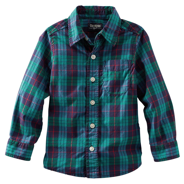 Oshkosh B/'gosh Boys Plaid Button Front Shirt