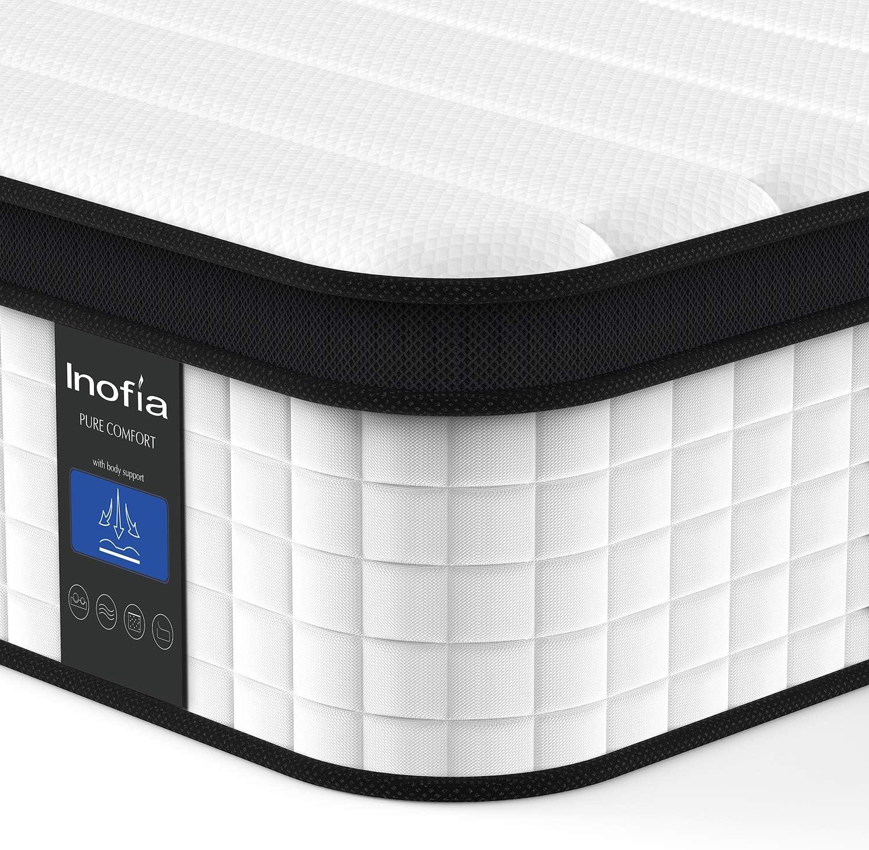 Inofia Queen Mattress 12 Inch Hybrid Mattress