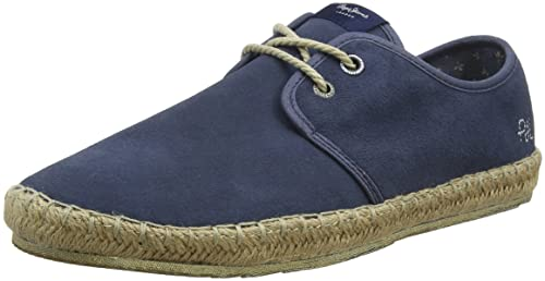 Pepe Jeans London - Espadrillas Uomo, Blu (Jarman), 44 (EU)