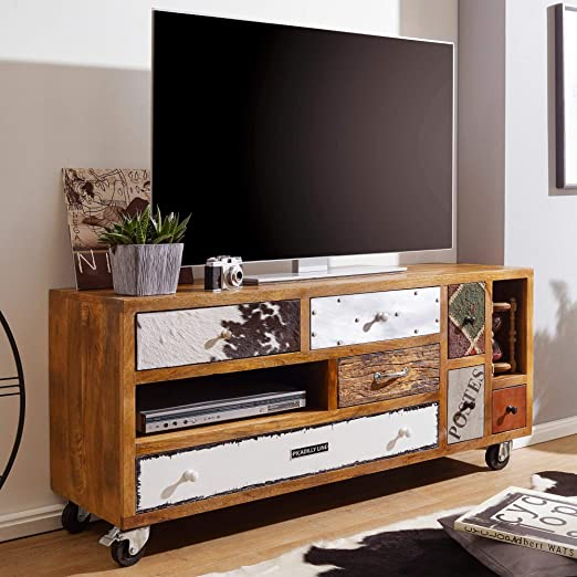 KS-Furniture Nepal - Mueble para televisor (Madera Maciza, 130 x ...