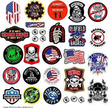 IRONWORKER BLOCK Stickers   3 inches Hard Hat Decal waterproof