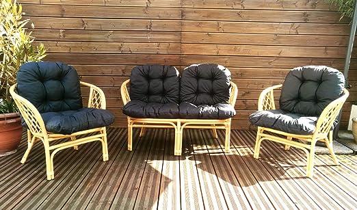 Mayaadi Home Gartenbankauflagen 6 teiliges Sitzkissen-Set Sitzpolster f/ür Gartengarnitur Set Steve Beige JCG1