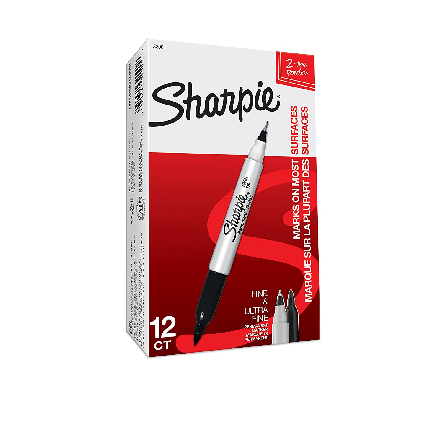 MADE IN USA Sharpie Sharpie Twin Tip Permanent Marker 32000 Model