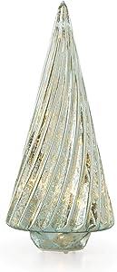 Lenox 887863 Wintery Woods Lit Mercury Glass Swirl Tree
