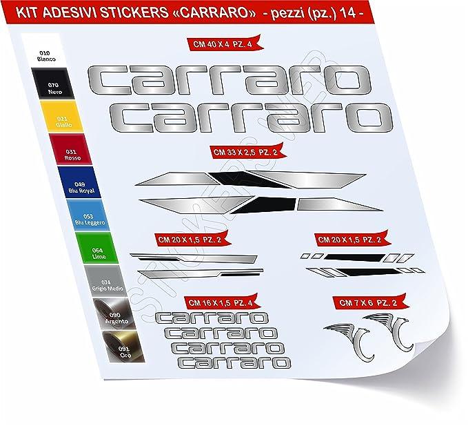 1 opinioni per Adesivi Bici CARRARO -kit 1- Kit adesivi stickers 14 Pezzi -SCEGLI SUBITO