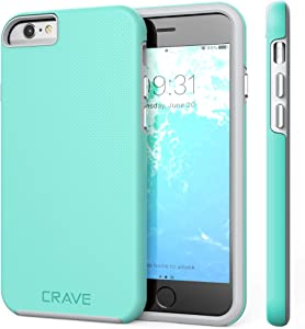 iPhone 6 Case, iPhone 6S Case, Crave Dual Guard Protection Series Case for iPhone 6 6s (4.7 Inch) - Mint/Gray