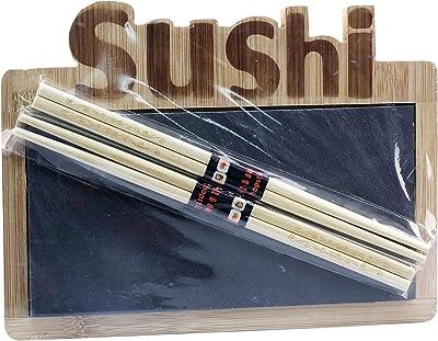 Anitex Set für Sushi, Bambus, Braun, 26 x 19 x 4 cm,