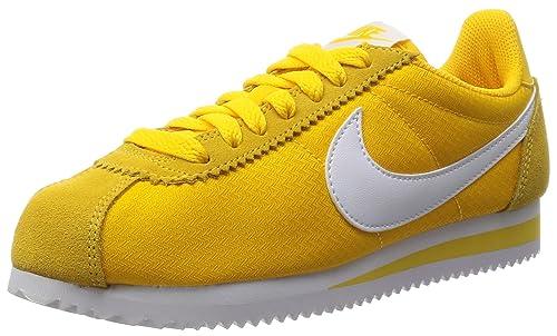 new product 9f831 39189 Nike Womens Classic Cortez Nylon Varsity MaizeWhite Casual Shoe 8.5 Women  US