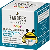 Zarbee's Naturals Baby Soothing Chest Rub with Eucalyptus, Lavender & Beeswax, 1.5 Ounce