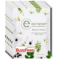 Eve Hansen Collagen Sheet Mask Set | Cruelty Free, Natural Hydrating Face Mask for...