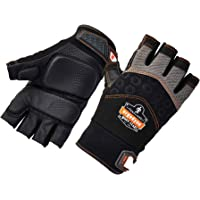 Ergodyne ProFlex 900 Impact Protection Work Gloves, Padded Palm, Half-Finger, 2XL