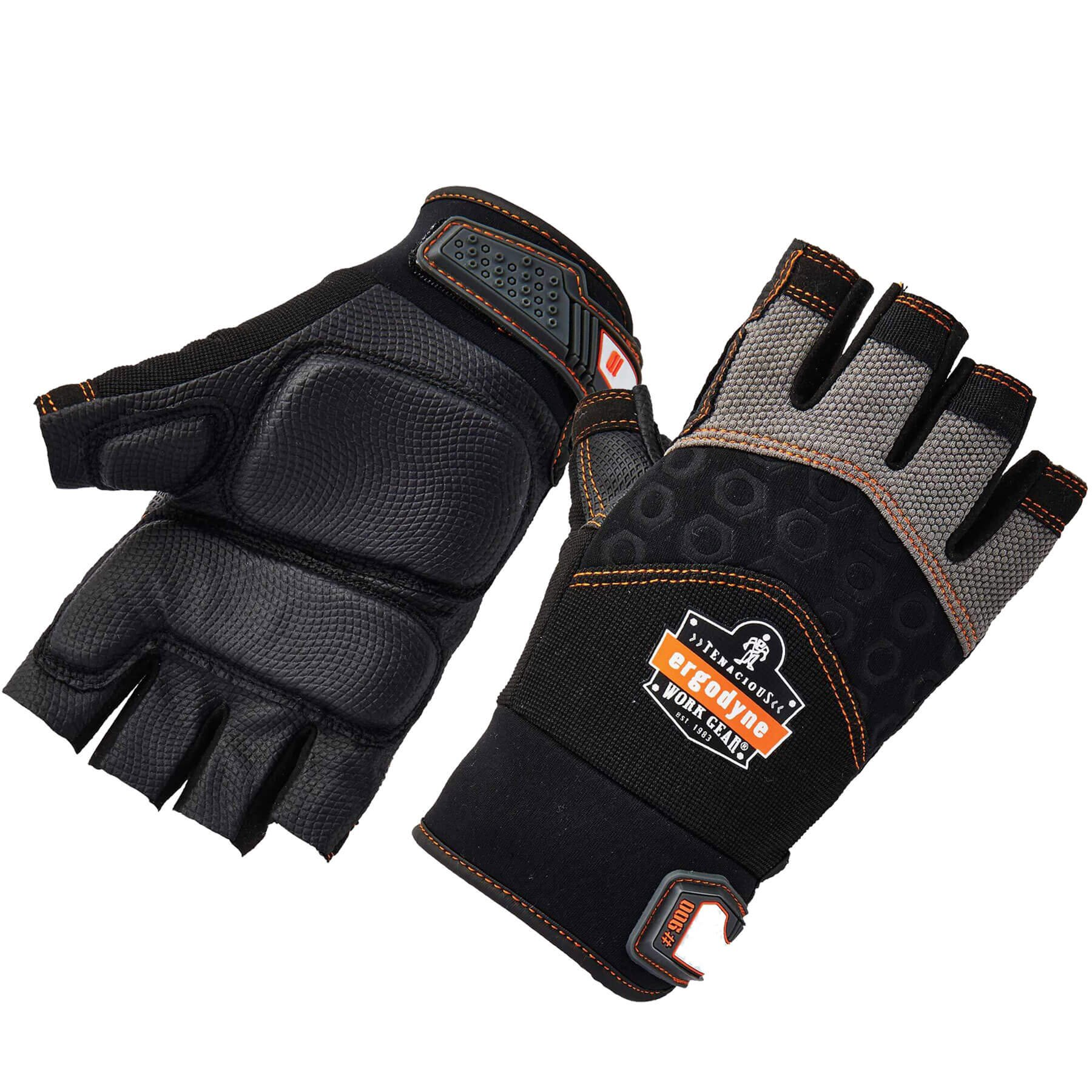 Ergodyne ProFlex 900 Impact Protection Work Gloves, Padded Palm, Half-Finger, X-Large by Ergodyne (Image #1)