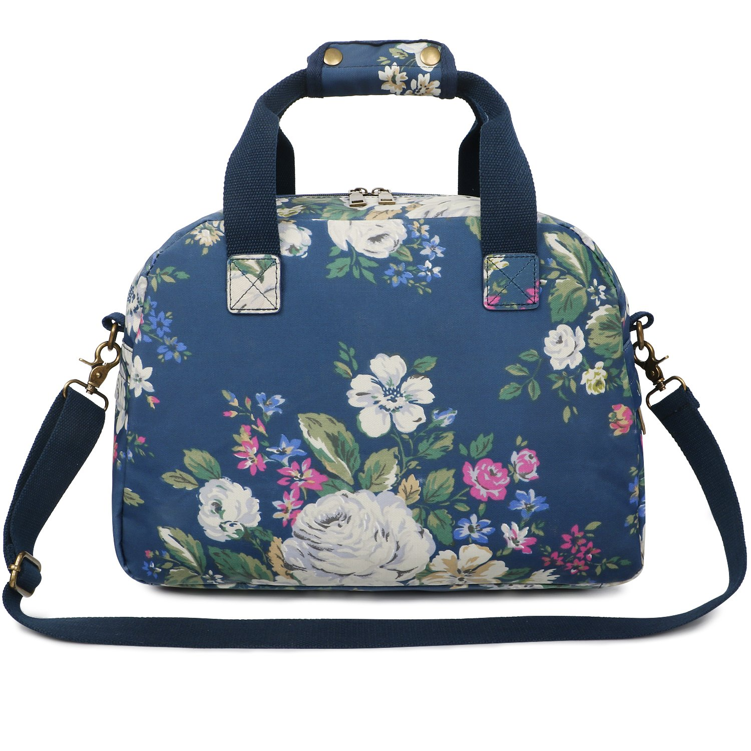 Oflamn 16L Small Floral Gym Duffle Bag Waterproof Canvas Travel Cute Sports Carry On for Women