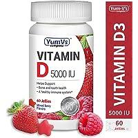 YumVs 60 Ct Complete Vitamin D3 & 5000 IU of Vitamin D Jellies (Gummies)