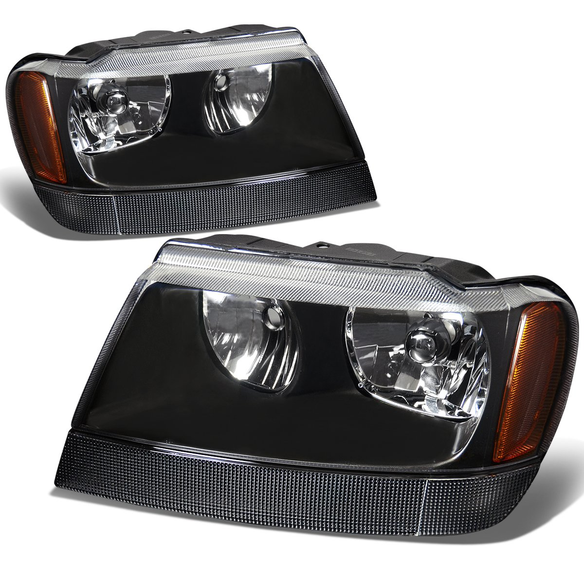 DNA Motoring HL-OH-JGC99-BK-AM Headlight Assembly, Driver and Passenger Side