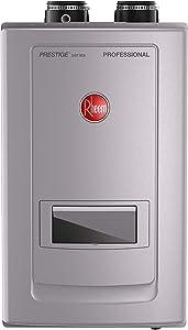 Rheem RTGH-RH11DVLP Prestige Series Condensing Tankless Water Heater With Built-In Recirculation, 199,000 Btu