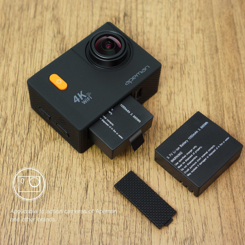 Amazon.com: Apeman cámara de acción batería dual recargable ...